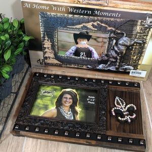 Western Moments Rustic Wooden & Metal Frame